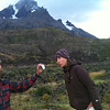 """""""This picture looks amazing!"""" says an astonished Christie to a surprised Mike.  (Torres del Paine)"""