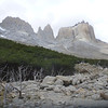 peaks at the top of Valle Francés, Torres del Paine