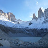Taking in the full view from the mirador de las Torres, Torres del Paine