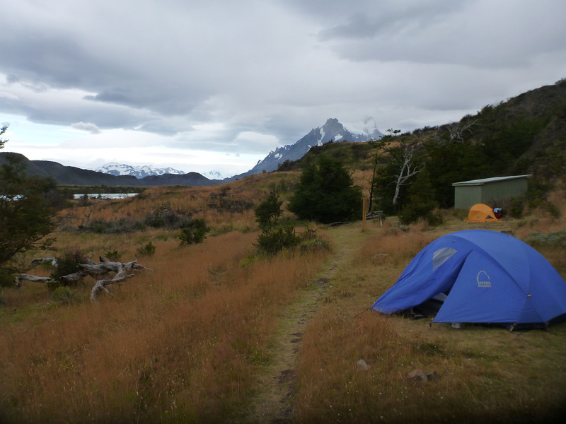 Campamento Las Carretas.  One of the few free campsites still available, Torres del Paine