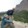 Jill and Mike caught unaware, Valle Francés, Torres del Paine