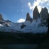 Torres Sur, Central y Norte in the afternoon shade
