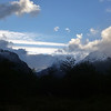 clouds building in the evening, near Refugio Dickson, Torres del Paine