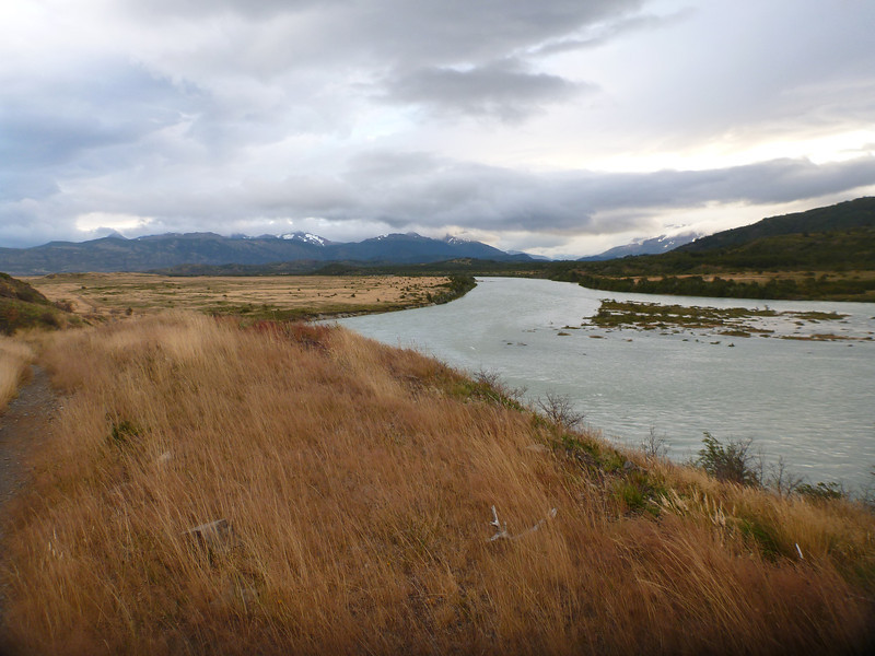 view along Rio Grey, just north of the Admin building, Torres del Paine
