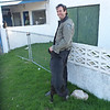 David outside the phone shop, La Coronilla, Uruguay