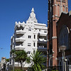 cool building by old church, Montevideo