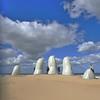 sand hand (vertical), Punta del Este