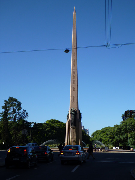 every major city needs an obelisk.  Montevideo's shown here.
