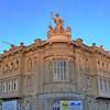 old building alpenglow, Fray Bentos, Uruguay