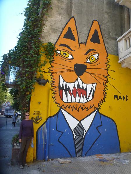 Jill and street art, Montevideo