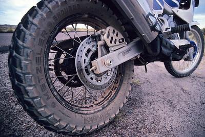 Motor covered with fine desert sand.