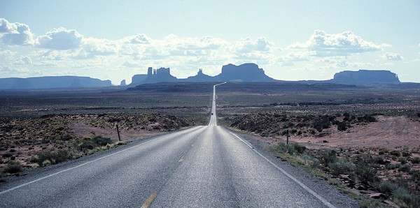 Picture perfect, on the road to Monument Valley.