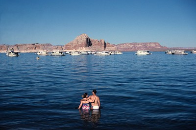 View from the Whaweat Marina at lake Powell.