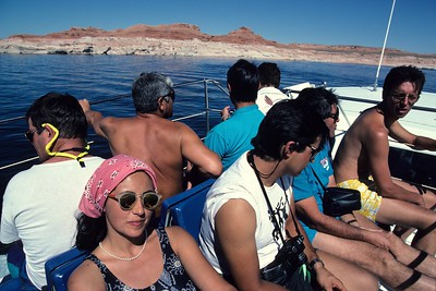 Boat ride on lake Powell.