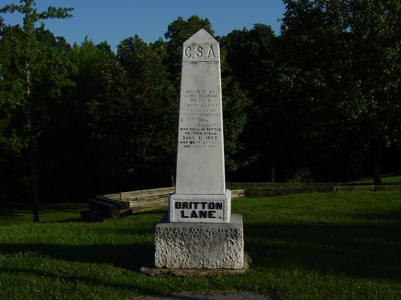 Monument to unknown CSA Soldiers.