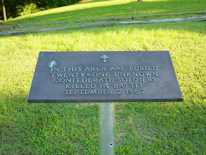 Marker at Britton Lane Battlefield