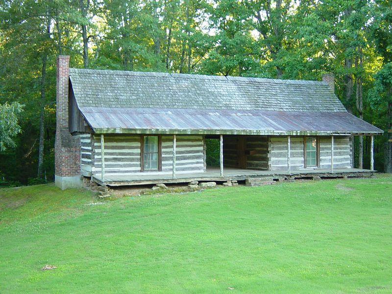 Dogtrot house at Britton Lane Battlefield