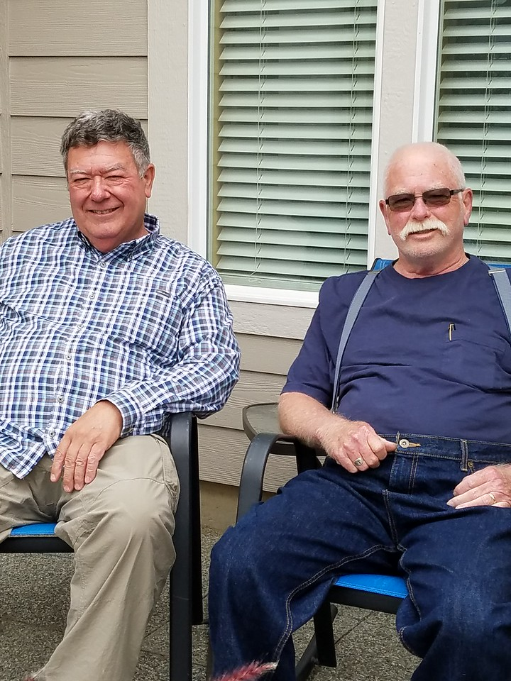 Dave and Keith on the porch.