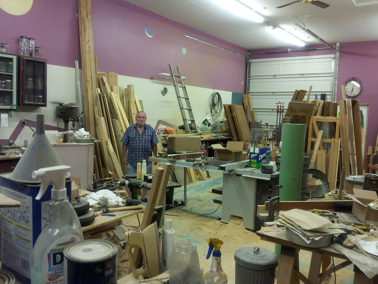 Chuck's workshop is bigger than my house, I think.  And full.