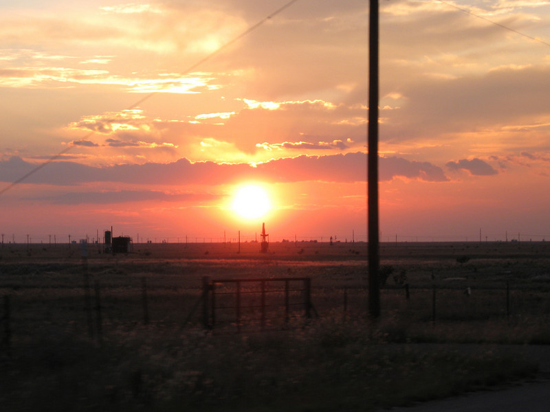 Sunset around the NM/Texas border while heading out on highway 380.