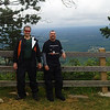 Vance and Donald at Pilot Mountain, 7/22/2014