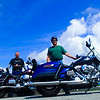 Donald and Vance with Harleys, Blue Ridge Parkway 7/22/2014