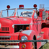 Old ladder truck near Ranchita Fire Station