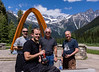 Bob, Aaron, Jim, and Chuck at Roger's Pass, BC