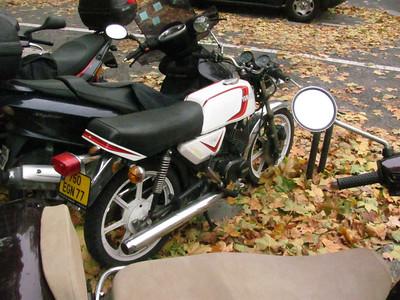 Cool little 80s style Cafe style bike, Yamaha.