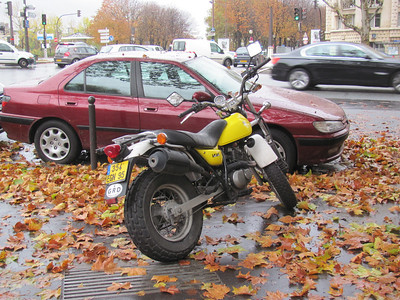 Cool French version of the famous TW200.  Note the fat tires.  These were all over the place (awesome).