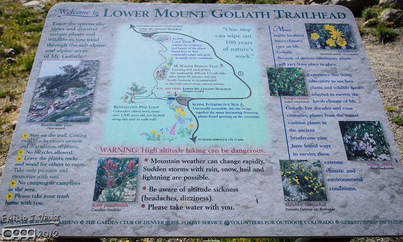A plaque giving information on the area.