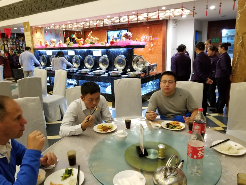 Dinner time at the Baiyun Hotel