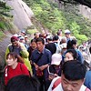 Mount Huangshan is a popular place on weekends