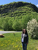 Denise Lantz in front of Mount McKay