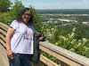 Denise Lantz on viewing platform on Mount McKay
