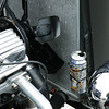 I just love this! The radiator cap had an overflow pipe directed down into an energy drink can. Classic!!?  modern tiewraps too....