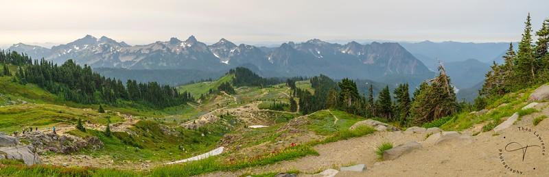 Mt. Rainier - Pano along the Skyline Trail Loop