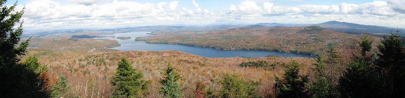 Panorama of Sunapee Lake