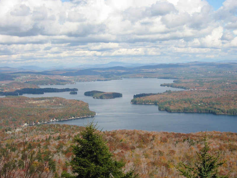 Overlooking Sunapee Lake from a side trail.  Probably the best view on the mountain.