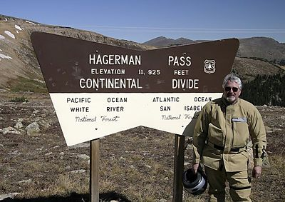 Dan at Hagerman Pass   11 925 feet 1589