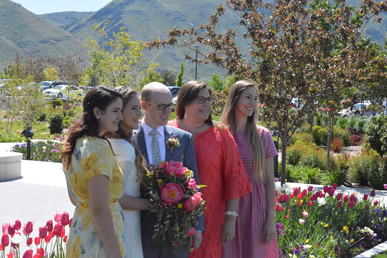 Mom, Daughters and the Groom