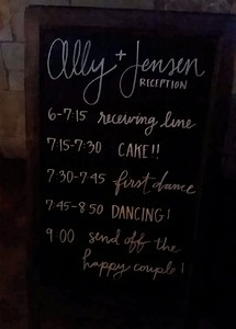 Wedding Reception Schedule
