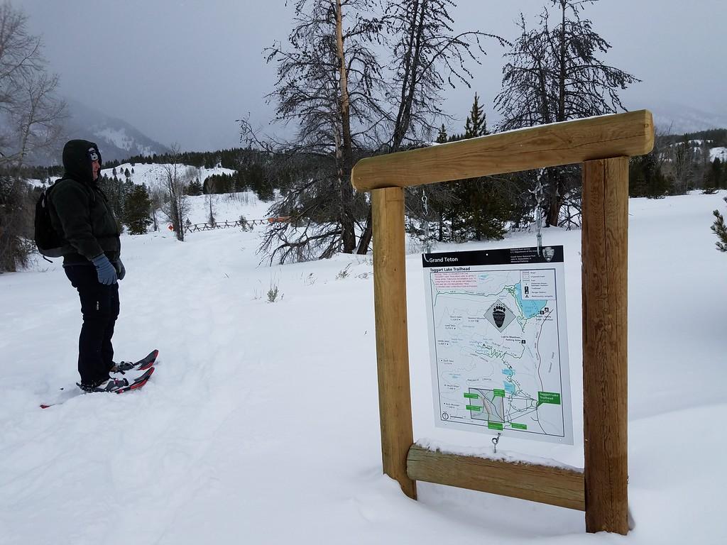 Snowshoeing Grand Tetons