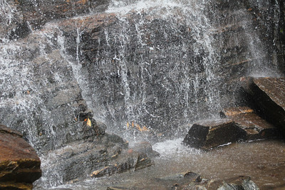 close-up of waterfall at Chimney Rock