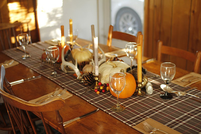 fall table setting at the parsonage