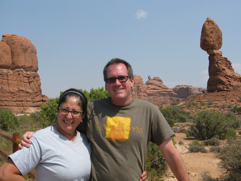 Christine and Bruce at Balanced Rock.