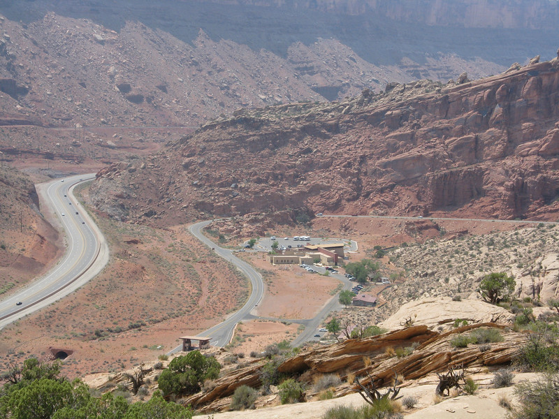 We head up the road from the visitor center below.