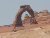 The hike to Delicate Arch is over 3 miles, and it was way too hot, so we stuck to the viewpoint which is at a bit of a distance from the arch.