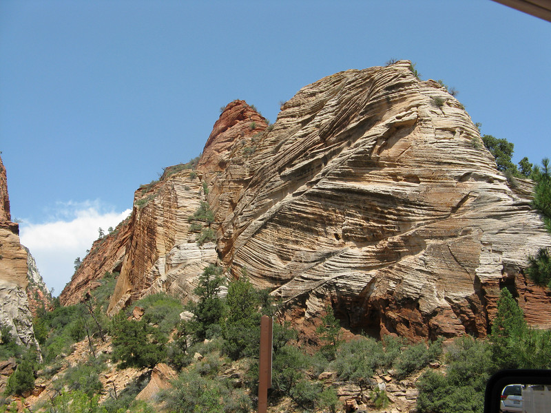 Cool looking sandstone on the other side of the park.