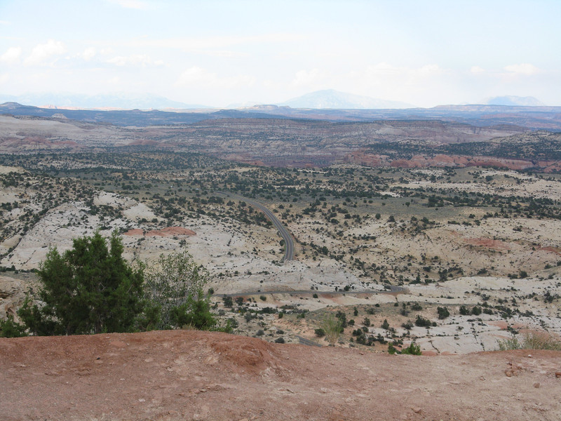 We headed out through the Grand Staircase Escalante National Monument. Very rugged terrain, and nothing for miles and miles.